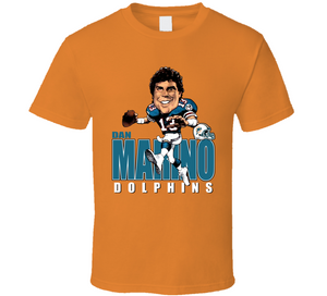Dan Marino Football Miami Retro Caricature T Shirt