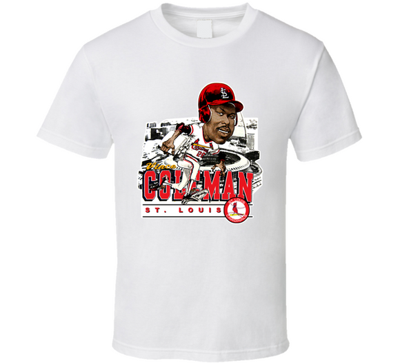 Vince Coleman St Louis Baseball Retro Caricature T Shirt
