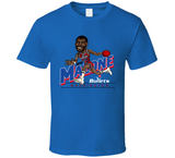 Jeff Malone Washington Basketball Retro Caricature T Shirt