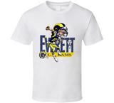 Jim Everett Los Angeles Football Retro Caricature T Shirt