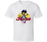 Ruben Sierra Texas Baseball Retro Caricature T Shirt