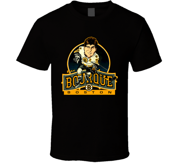 Ray Bourque Boston Hockey Retro Caricature T Shirt