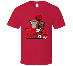 Spud Webb Atlanta Basketball Retro Caricature T Shirt
