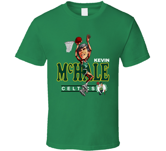 Kevin McHale Boston Basketball Retro Caricature T Shirt