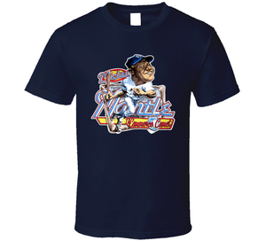 Mickey Mantle New York Baseball Retro Caricature T Shirt