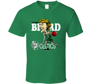 Larry Bird 33 Boston Basketball Retro Caricature T Shirt