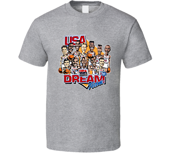 USA Basketball Dream Team Retro Caricature T Shirt