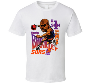 Charles Barkley Phoenix MVP Basketball Retro Caricature T Shirt