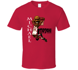 Michael Jordan GOAT Chicago Basketball Retro Caricature T Shirt