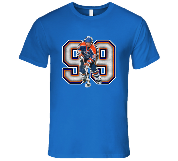 Wayne Gretzky Edmonton Hockey Legend Retro Sports T Shirt