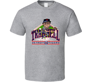 Alan Trammell Detroit Baseball Retro Caricature T Shirt