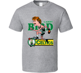 Larry Bird Boston 33 Legend Basketball Retro Caricature T Shirt