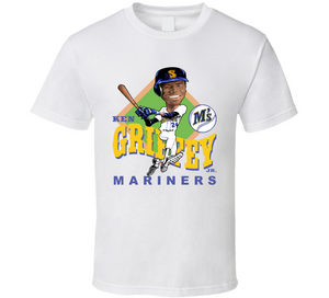 wholesale dealer 7e0ca d33fe Ken Griffey Jr Baseball Retro Caricature T Shirt ...