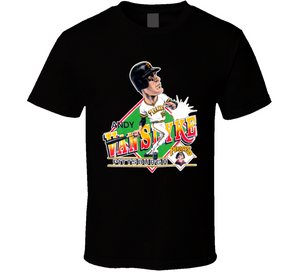 Andy Van Slyke Legend Pittsburgh Baseball Retro Caricature T Shirt