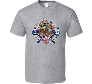 1993 All Star Game Basketball Retro Caricature T Shirt