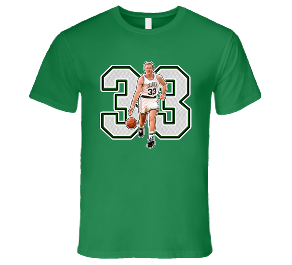 Larry Bird Boston Basketball Legend Retro Sports T Shirt