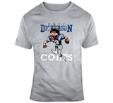Eric Dickerson Football Indianapolis Distressed Retro Caricature T Shirt