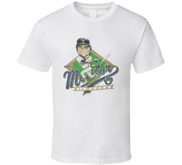 Paul Molitor Milwaukee Baseball Retro Caricature T Shirt