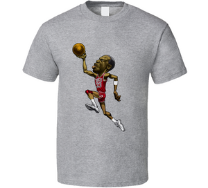 Michael Jordan Basketball Legend Retro Caricature T Shirt