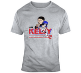 Jim Kelly Football Buffalo Distressed Retro Caricature T Shirt
