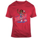 Dennis Rodman Detroit Basketball Distressed Retro Caricature T Shirt