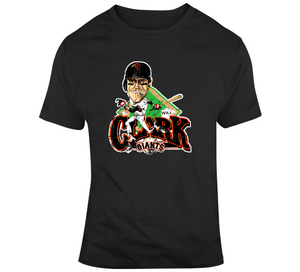 Will Clark 22 San Francisco Baseball Distressed Retro Caricature T Shirt