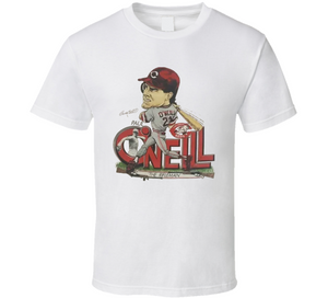 Paul O'Neill Cincinnati Baseball Retro Caricature T Shirt