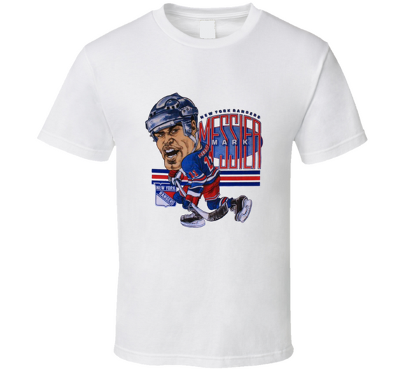 Mark Messier New York Hockey Retro Caricature T Shirt