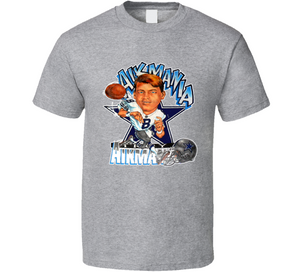 Troy Aikman Aikmania Dallas Football Retro Caricature T Shirt