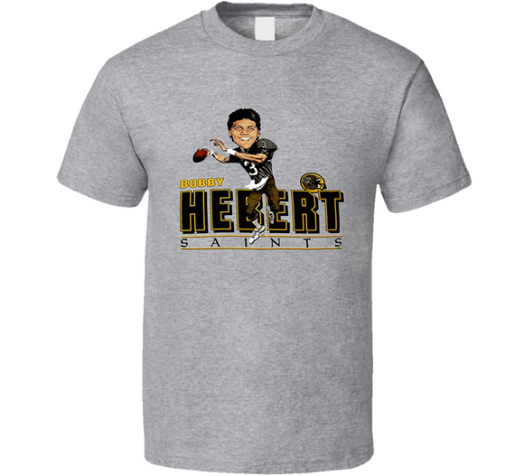 Bobby Hebert New Orleans Football Retro Caricature T Shirt
