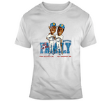 Ken Griffey Jr And Sr Seattle Baseball Distressed Retro Caricature T Shirt
