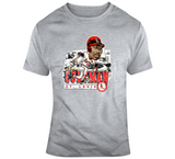 Vince Coleman St Louis Baseball Distressed Retro Caricature T Shirt