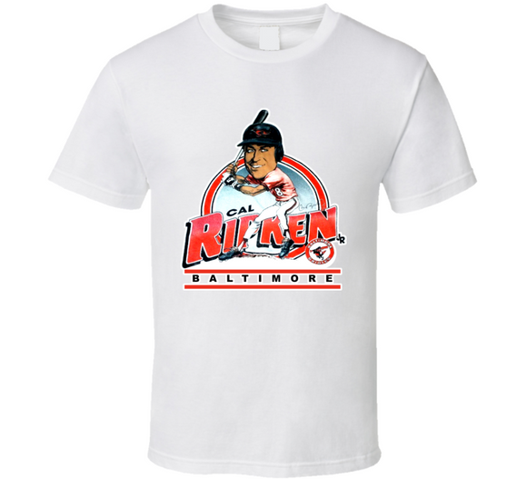 Cal Ripken Baltimore Baseball Retro Caricature T Shirt