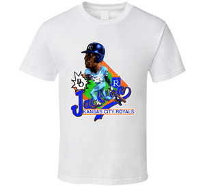 Bo Jackson KC Kansas City Baseball Retro Caricature T Shirt