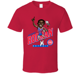 Dennis Rodman Detroit Basketball Retro Caricature T Shirt