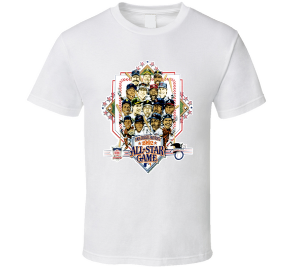 1992 Baseball All Star Game Retro Caricature T Shirt