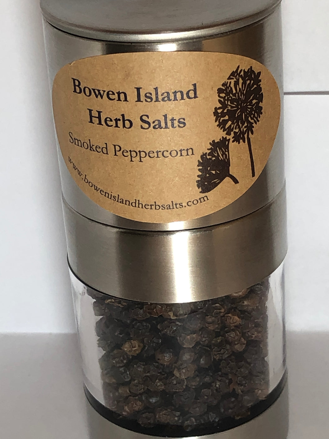 Smoked Black Peppercorns - Cedar Wood, Stainless Steel