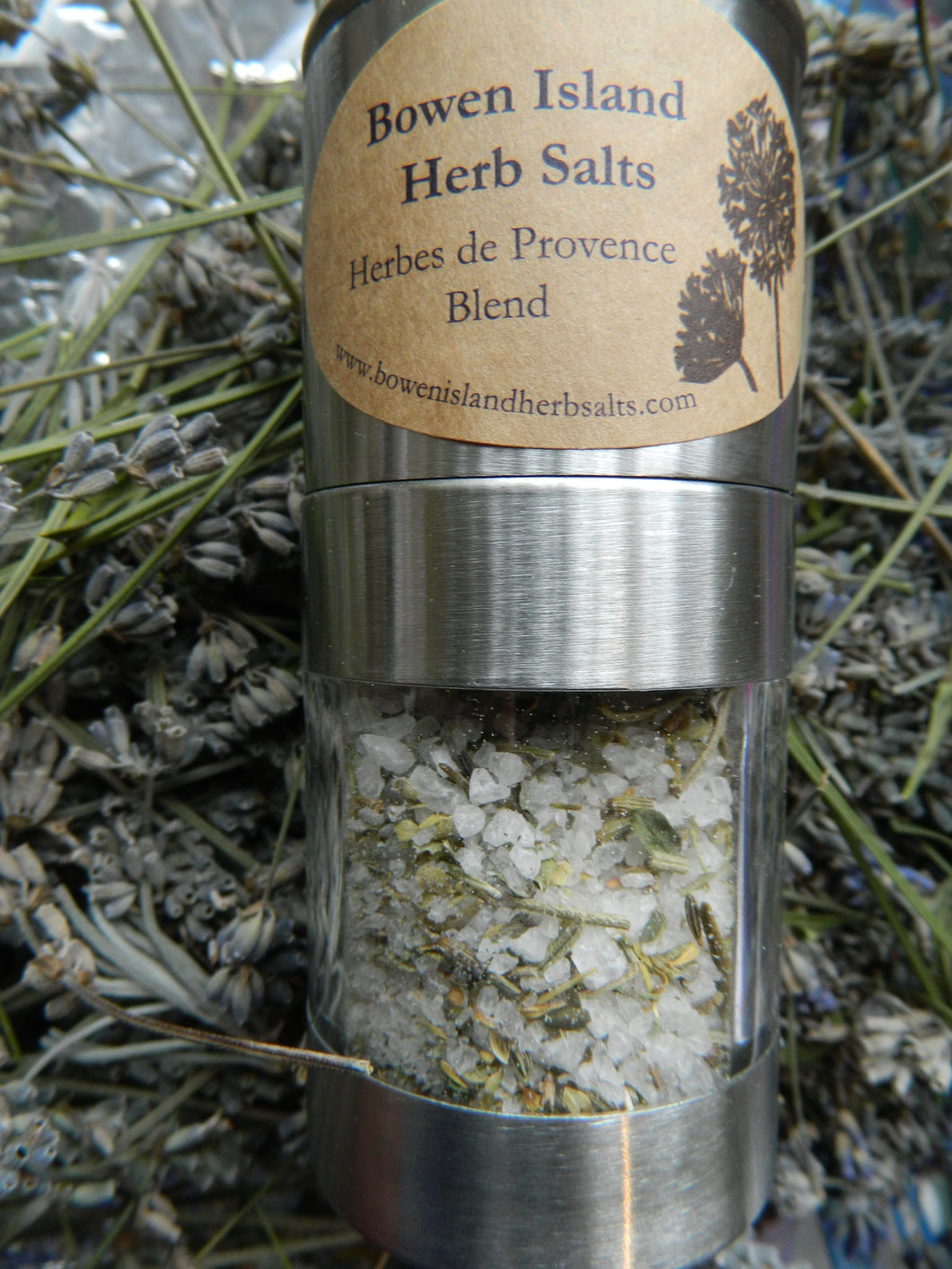 Herb Salt - Herbs de Provence, Stainless Steel Mill