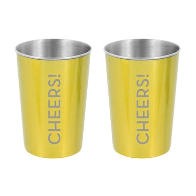 Excursion Wine Cup, Drink Up or Cheers, Set Of 2