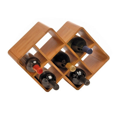 Greenophile Bamboo 8-Bottle Rack