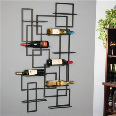 Mid Century Wall Wine Rack