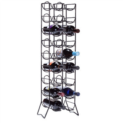 Scaffovino 18 Bottle Floor Wine Rack, Black