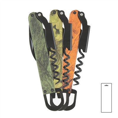 Techno Corkscrew, Assorted Camo Colors