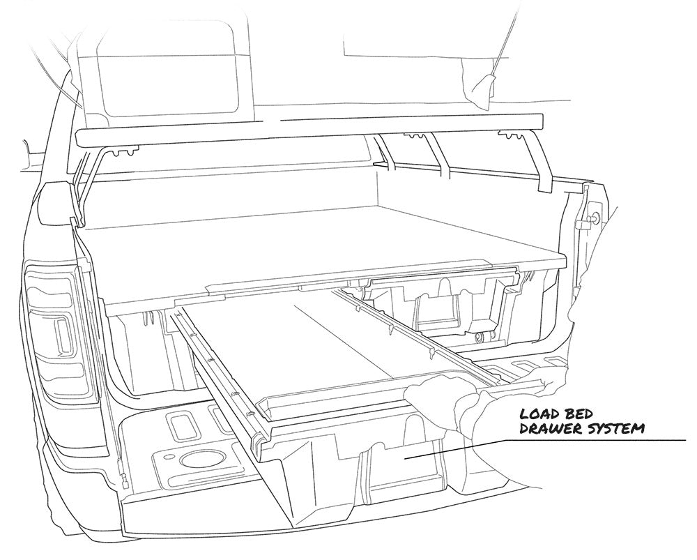 Overlanding vehicle tech illustration back view