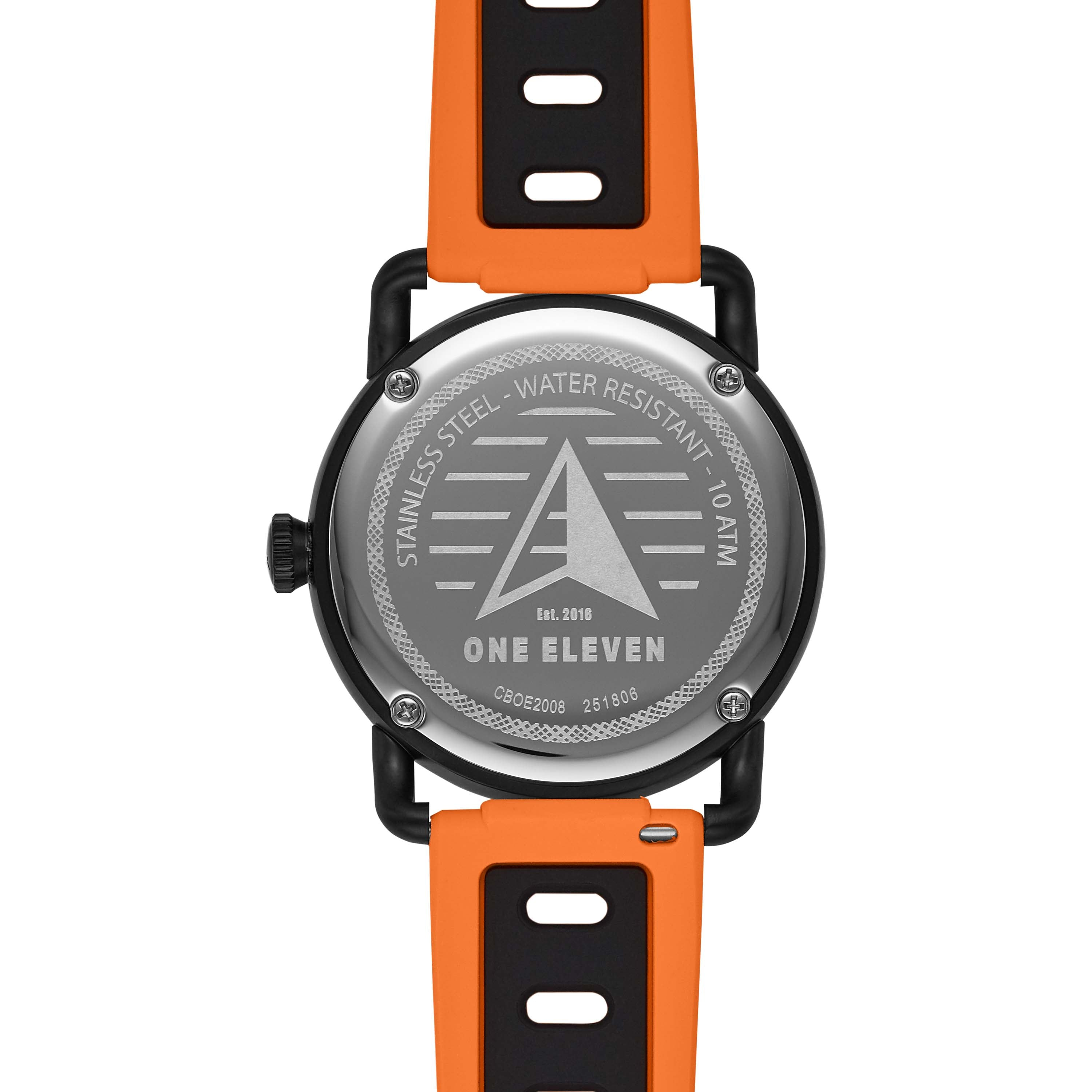 SW1 Solar Three-Hand Date Orange Silicone Watch