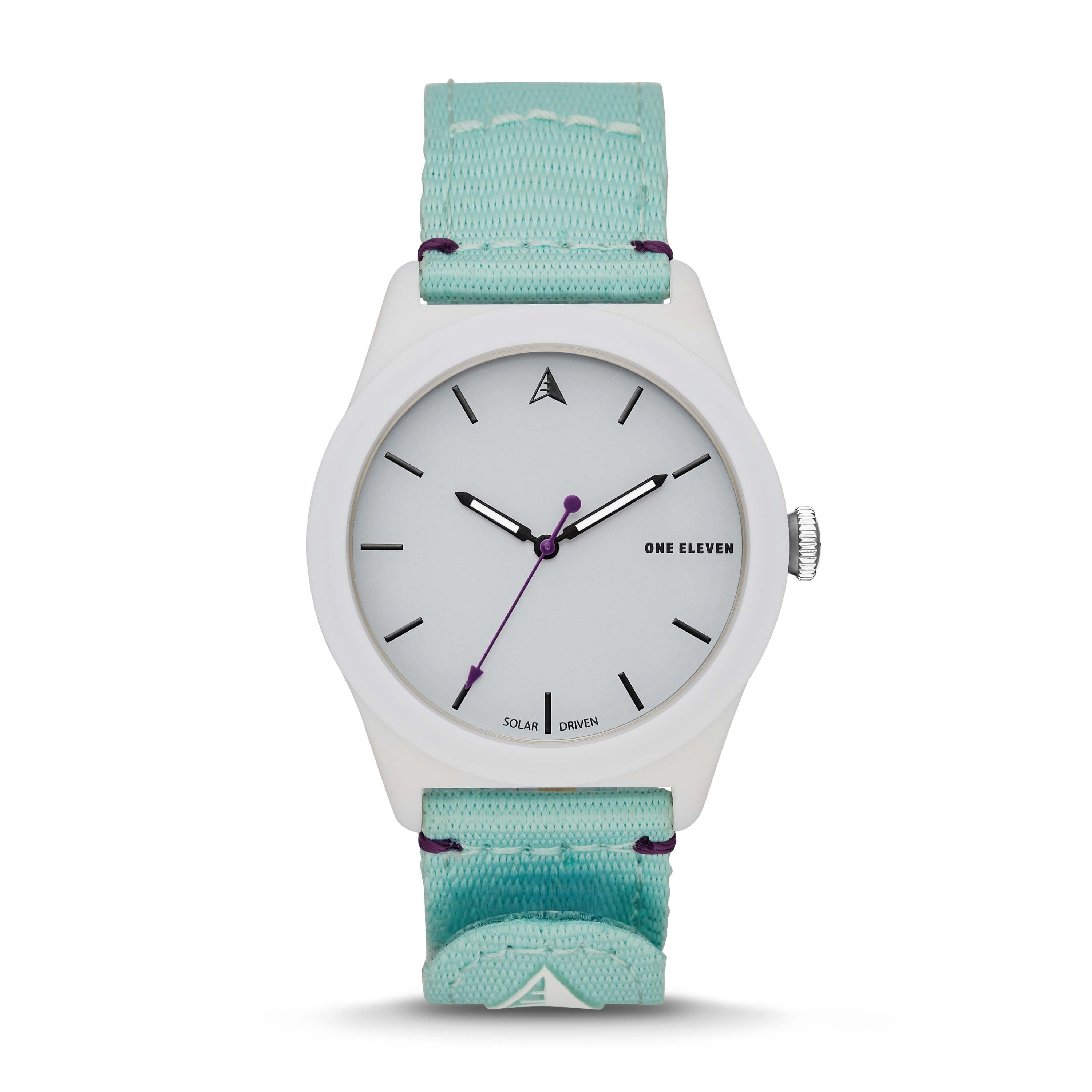 SWII Solar Three-Hand Mint rPet Watch