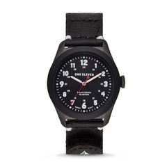 Solar Powered Sustainable Field Watch Black rPet