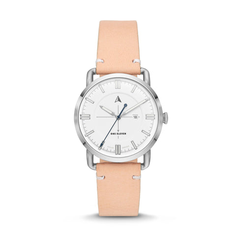 SW1 Solar 3-Hand Nude Leather Strap