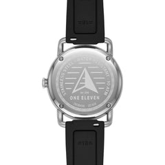 SW1 Solar Three-Hand Date Black Silicone Watch