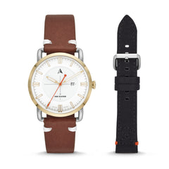 SW1 Solar Three-Hand Date Watch Set